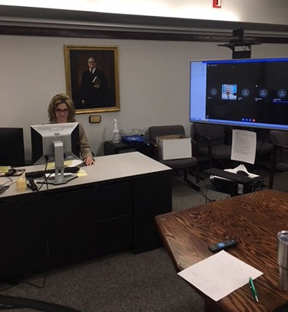 Photo of a Virtual Courtroom