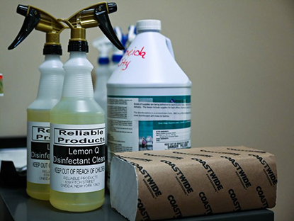 photo of cleaning products