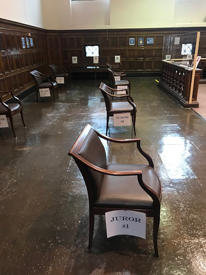 Distanced seating for Jurors